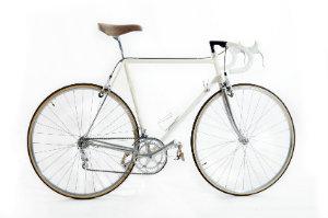 Produktfoto von einem Rennrad im Vintage-Stil.