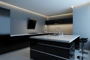 Eine Designküche besticht durch raffinierte Details.