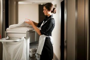 Nur ein perfekt gesäubertes Hotel gewährleistet die Zufriedenheit der Hotelgäste.