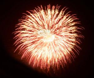Ein Jubiläumsfeuerwerk ist perfekt für besondere Ereignisse.