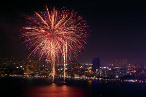 Professionelles Feuerwerk eignet sich auch für private und Firmenfeiern.