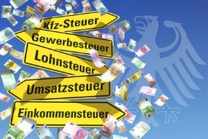 In Deutschland gibt es viele Steuerarten.