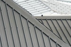 Blecheindeckung gibt es sowohl für Flach- als auch für Steildächer.
