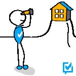 Beim Vergleichsverfahren werden für die Wertermittlung der Immobilie vergleichbare Objekte betrachtet